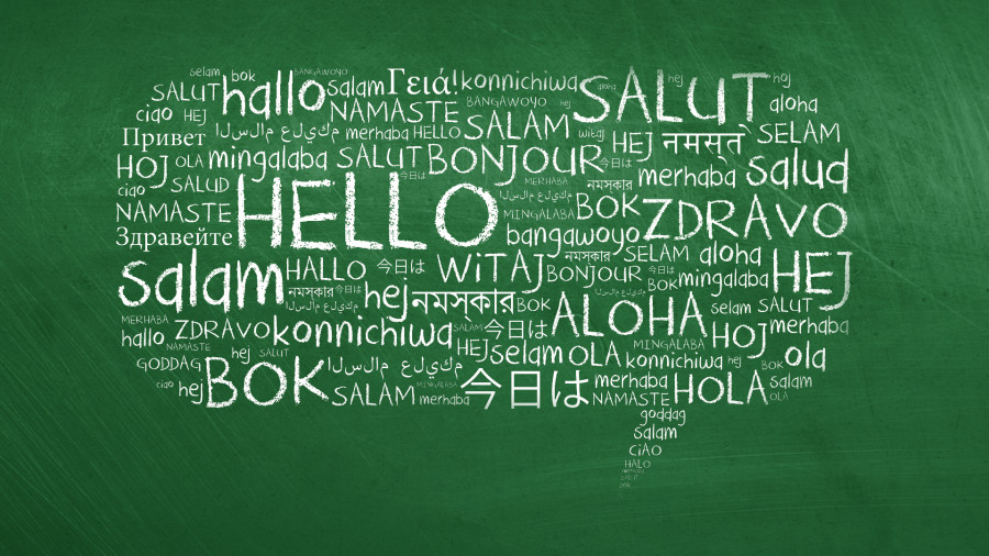 Hello in different languages of the world